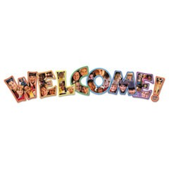 Photographic Welcome Bulletin Board Set, 8 Pieces/Kit