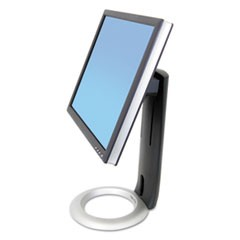 "Neo-Flex LCD Stand for LCDs up to 24"", Black/Silver"