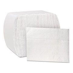North River ServRite Dispenser Napkins, 1-Ply, 6 1/2 x 5,White,334/Pk,6000/Crtn