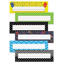 Nameplate Set, 11.5 x 3.5, Assorted Colors, 216/Set