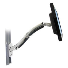 MX LCD Mount Arm, Wall Mount, Polished Aluminum