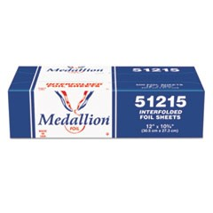 Medallion Interfolded Foil Sheets, 12 x 10 3/4, 500/Box, 6 Box/Carton