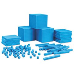 Plastic Base Ten Class Set, 15 1/2 x 11.4 x 4 1/2, Blue