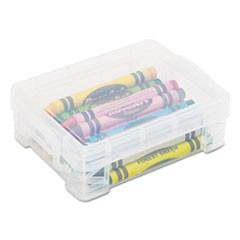 Super Stacker Crayon Box, Clear, 4 3/4 x 3 1/2 x 1 3/5