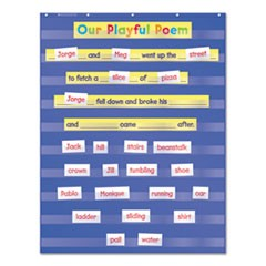 Standard Pocket Charts, 34 x 44, Blue/Clear