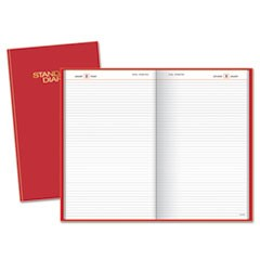 Standard Diary Daily Diary, Red, 8 3/16 x 13 7/16, 2016