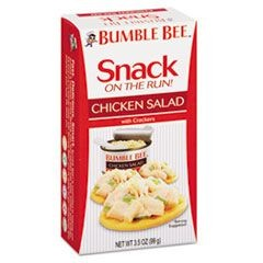 Bumble Bee On-The-Go Meal Solution w/Crackers, Chicken Salad, 3.5oz, 12/Carton