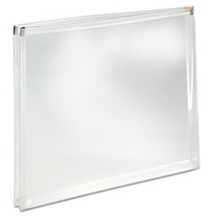Poly Zip Envelope, 10 x 13, Open Side, Clear, 5/Pack