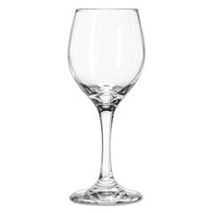 "Perception Glass Stemware, Wine, 8oz, 7 1/4"" Tall, 24/Carton"