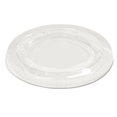 Souffl�/Portion Cup Lids f/3 1/4 to 4 oz Cups, Clear, 2400/Carton