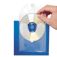 CD Pocket, Clear/White, 5/Pk