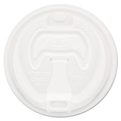 Optima Reclosable Lid, 12-24oz Foam Cups, White, 100/Bag, 10 Bags/Carton