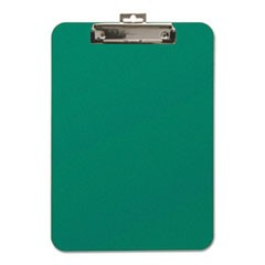 "Unbreakable Recycled Clipboard, 1/4"" Capacity, 8 1/2 x 11, Green"
