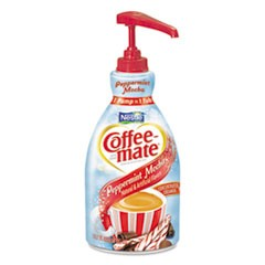 Liquid Creamer Pump Bottle, Peppermint Mocha, 1.5 L, 2/Carton