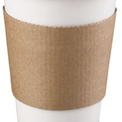 Coffee Clutch Hot Cup Sleeve, Brown, Fits 10, 12 16, 20 oz Cups, 500/Carton