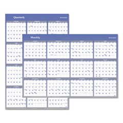 Vertical/Horizontal Erasable Wall Planner, 32 x 48, 2018