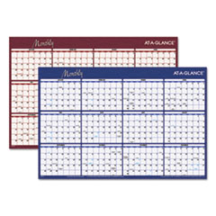 Reversible Horizontal Erasable Wall Planner, 36 x 24, 2019