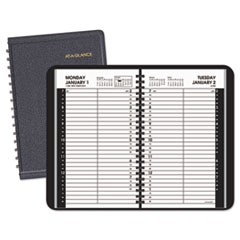 Daily Appointment Book with 15-Minute Appointments, 8 x 4 7/8, Black, 2019