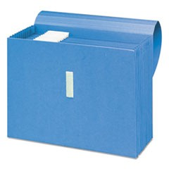 Antimicrobial Expanding File, 12 Pockets, Letter, Blue