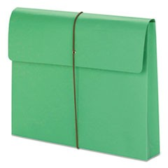 "2"" Exp Wallet with String, Letter, Green, 10/BX"
