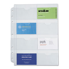 Business Card Holders for Looseleaf Planners, 8 1/2 x 11, 5/Pack