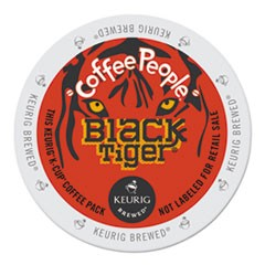 Black Tiger Extra Bold Coffee K-Cups, 24/Box