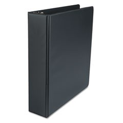 "Economy Non-View Round Ring Binder, 2"" Capacity, Black"