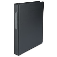 Economy Non-View Round Ring Binder With Label Holder, 1