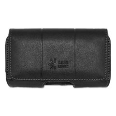 Horizontal Pouch for Belt, Leather, Black