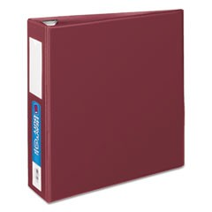 "Heavy-Duty Binder with One Touch EZD Rings, 11 x 8 1/2, 3"" Capacity, Maroon"