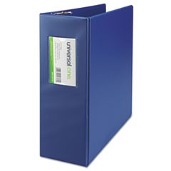 "D-Ring Binder, 4"" Capacity, 8-1/2 x 11, Royal Blue"