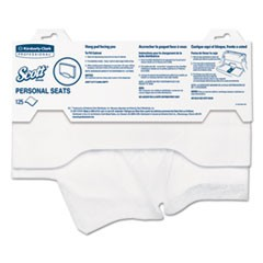 "Personal Seats Sanitary Toilet Seat Covers, 15"" x 18"", 125/Pack"