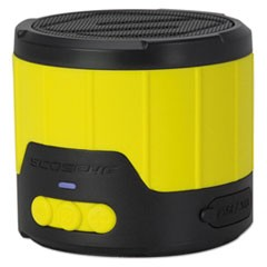 boomBOTTLE Rugged Weatherproof Speaker, Yellow