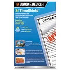TimeShield UV Laminating Pouches, 3 mil, 9 x 14, 25/Pack