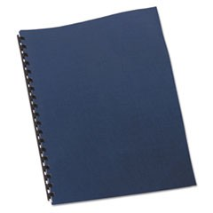 Linen Textured Binding System Covers, 11 x 8-1/2, Navy, 200/Box