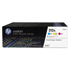 HP 312A (CF440A-M) 3-pack Cyan/Magenta/Yellow Original LaserJet Toner Cartridges