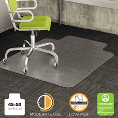 DuraMat Moderate Use Chair Mat for Low Pile Carpet, Beveled, 45x53 w/Lip, Clear