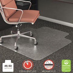 RollaMat Frequent Use Chair Mat, Med Pile Carpet, Flat, 45 x 53, Wide Lipped, CR