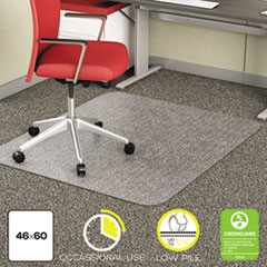 EconoMat Occasional Use Chair Mat for Low Pile, 46 x 60, Clear