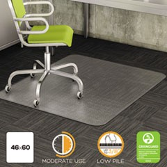 DuraMat Moderate Use Chair Mat, Low Pile Carpet, Flat, 46 x 60, Rectangle, CR