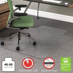 RollaMat Frequent Use Chair Mat, Med Pile Carpet, Flat, 36 x 48, Lipped, CR