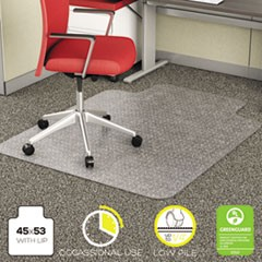 EconoMat Occasional Use Chair Mat for Low Pile Carpet, 45 x 53, Wide Lipped, CR