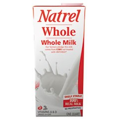 Milk, Whole Milk, 32 oz Tetra Pack, 12/Carton