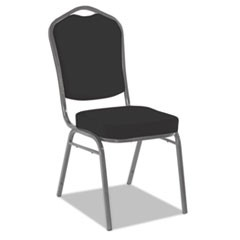 Banquet Chairs with Crown Back, Black/Silver, 4/Carton