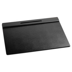 Wood Tone Desk Pad, Black, 21 x 18