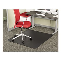 SuperMat Frequent Use Chair Mat, Medium Pile Carpet, Beveled, 45 x 53, Black