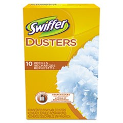 Refill Dusters, Cloth, White, 10/Box, 6 Boxes/Carton
