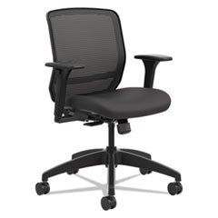 Quotient Series Mesh Mid-Back Task Chair, Black