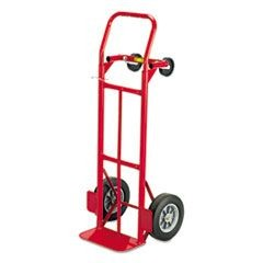 Two-Way Convertible Hand Truck, 500-600lb Capacity, 18w x 51h, Red