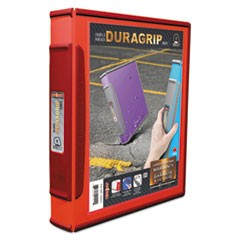 "DuraGrip Binders, 1"" Capacity, Red"